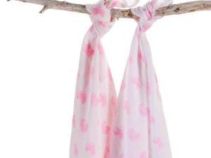 Haton hydrofiel swaddle roze