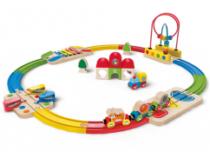 Hape houten regenboog trein set