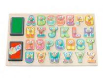 Sevi houten alfabet stempelset