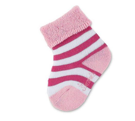 Sterntaler baby sokje roze-wit maat 15/16