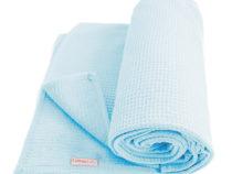 Cottonbaby wiegdeken wafel lichtblauw