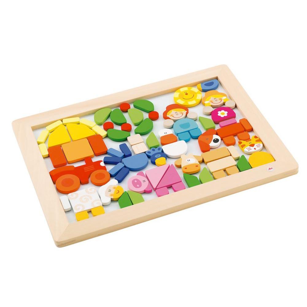sevi houten magnetische puzzel boerderij