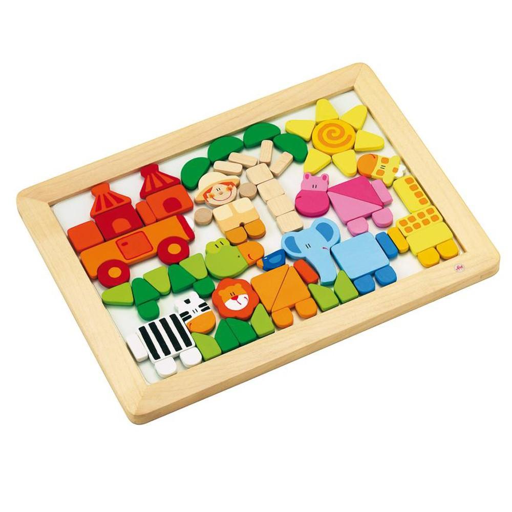 Sevi houten magnetische puzzel Savanne
