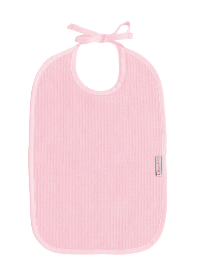 Cottonbaby slab wafel roze