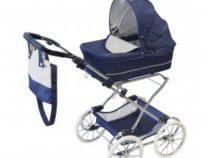 ByAstrup poppenwagen de luxe donkerblauw klassiek model
