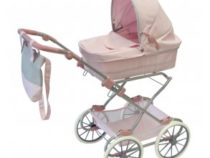 ByAstrup poppenwagen de luxe roze klassiek model