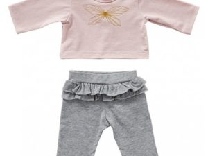 byAstrup poppen T shirt vlinder en legging 35 cm