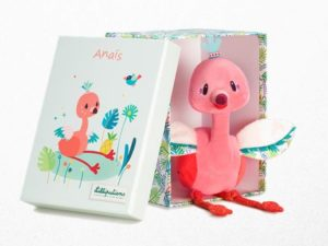 Lilliputiens Anaïs knuffel flamingo