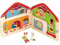 Hape houten magnetische circus puzzel