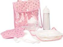 Mini Mommy poppen eetsetje de luxe roze