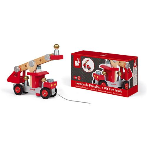 Janod brandweerwagen bouwpakket