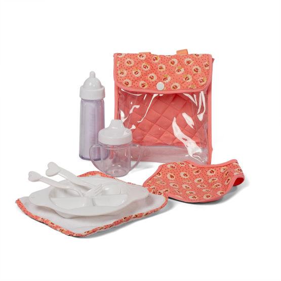 Mini Mommy poppen eetsetje de luxe Dusty roze