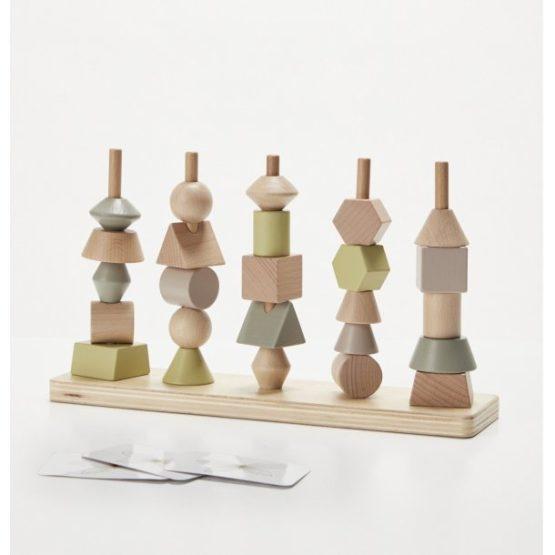 ByAstrup Houten vormen stapeltoren