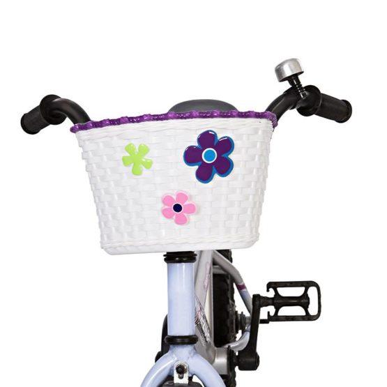 Mini Mommy Fietsmandje voor kinderfiets Wit