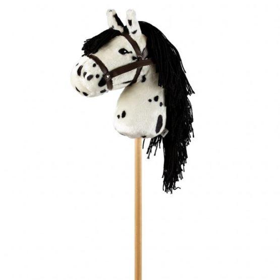 ByAstrup Stokpaardje Wit met zwarte stippen